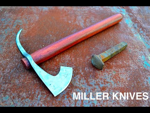 Forging a Tomahawk from a Railroad Spike