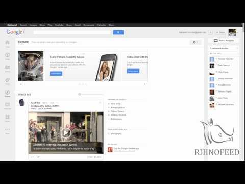 Google Plus 2012 Redesign