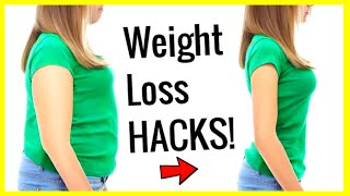 10 WEIGHT LOSS Life Hacks to LOSE WEIGHT FAST and EASY!