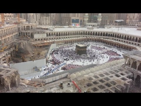 Exclusive: Masjid Al-Haram Expansion 2013 Footage from Tower Crane