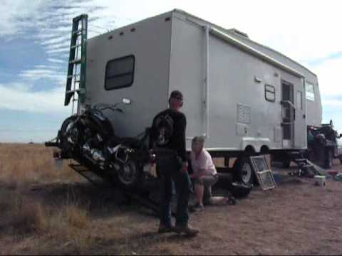 Cowboy Built Motorcycle Carrier .wmv