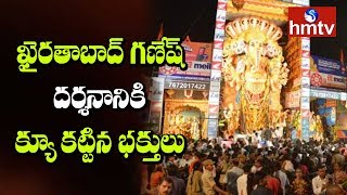 Huge Devotees Rush at Khairatabad Ganesh Idol | Updates From Khairatabad | hmtv