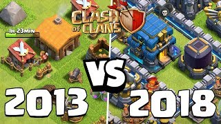 CLASH OF CLANS 2013 vs 2018 ☆ CoC