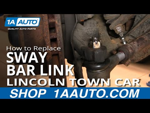 How To Install Repair Replace Broken Sway Stabilizer Bar End Link Lincoln Town Car 98-02 1AAuto.com