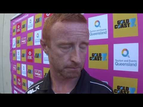 Fiji 7s coach post match interview: Fiji v Portugal Gold Coast 7s 2014