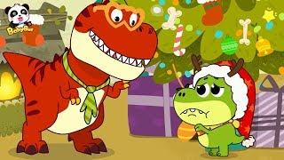 Baby Dinosaur's Waiting for Santa Claus | Baby Panda's Magic | Christmas Present | BabyBus