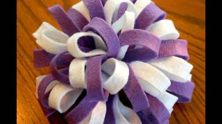 ~Design Idea~ Variations to the Felt Loopy Pom Pom hairbow tutorial