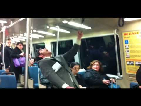 Screaming In Public prank!!! BART train San Francisco