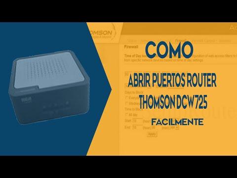 Como Abrir Los Puertos Router Thomson DCW725 2017 [Minecraft]
