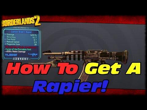 Borderlands 2 How To Get Captain Blade's Rapier Vladof Rifle! Borderlands 2 Unique Weapon Guide!