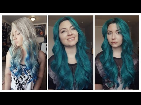 How I Dyed My Hair Sea Green | Directions Alpine Green & Midnight Blue