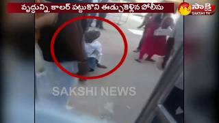 Karnataka: Policeman drags out old man from Sringeri Temple gate