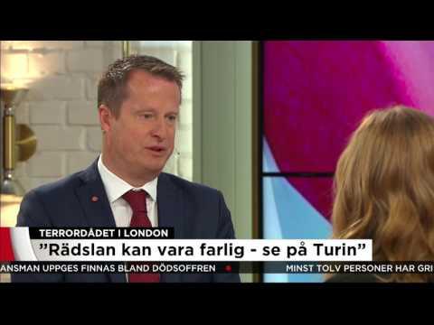 """Ygeman om terrorn: """"Demokratin kommer att segra"""" - Nyheterna (TV4)"""