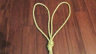 How To Tie The Double Figure 8 Loop (Bunny Ears)