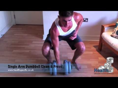 Single Arm Dumbbell Clean and Press Image 1
