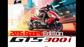 SYM GTS300i ABS - 2015 start & stop SPORT edition & details