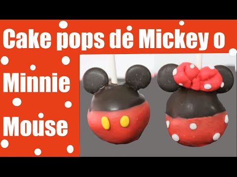 Cake pops de Mickey y Minnie mouse