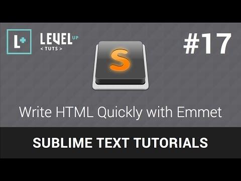 Download  Sublime Text Tutorials #17 - Write HTML Quickly with Emmet Gratis, download lagu terbaru