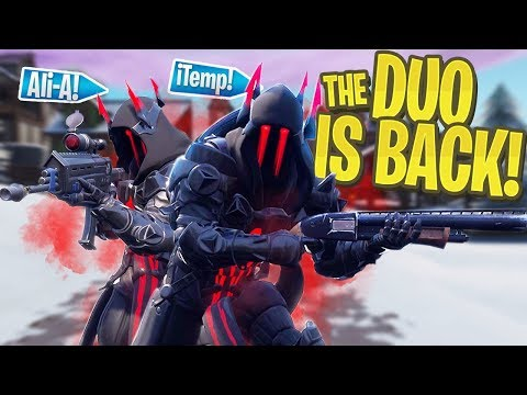 The DUO is BACK! - iTemp + Ali-A Duos in PS4 Fortnite Season 7!