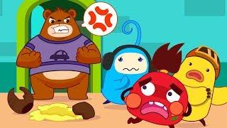 Colored Monsters Break Mr. Bear's Honey Pot | Math Kingdom Adventure | BabyBus