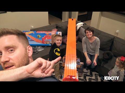 Hot Wheels LEGO BATMAN Movie Toys Race with Justice League Spider-Man & Ninja Turtles | KIDCITY