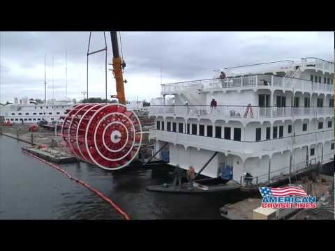 Queen of the Mississippi Paddlewheel Installation