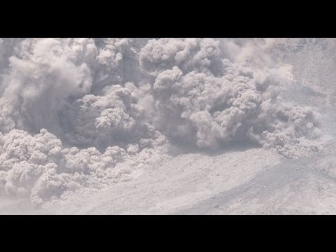 Sinabung Volcano Eruption Pyroclastic Flows 4K Stock Footage Reel 4096x2160 30p
