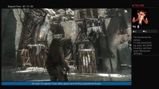 Aqland's Live Rise of the Tomb raider ps4 part 6