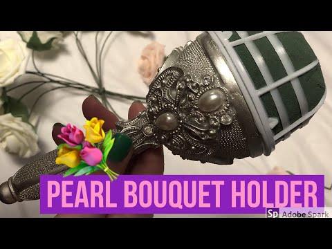 Elegant Silver Jeweled DIY Bouquet Holder