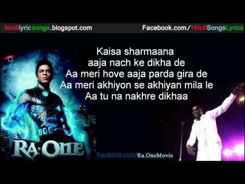 Chammak Challo - AKON (RA ONE SONG) with Lyrics