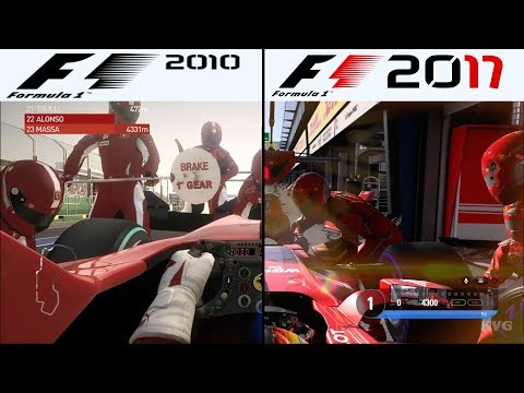 F1 Game Comparison (2010 - 2017 PIT Stop Gameplay Comparison)