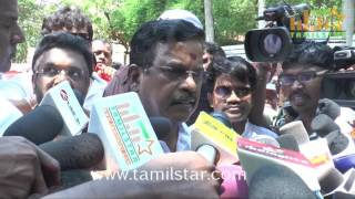 Producer Council Protest Against On Nadigar Sangam