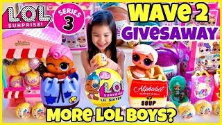 MORE LOL BOYS?! LOL SURPRISE SERIES 3 WAVE 2 GIVEAWAY & Unboxing Lil Sisters! Meet Beatnik Babe!