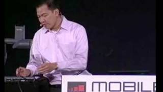 Flash 10.1 Demos at Google Keynote at Mobile World Congress -  Eric Schmidt