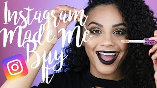 FULL FACE USING INSTAGRAM HYPED MAKEUP! | INSTAGRAM MADE ME BUY IT