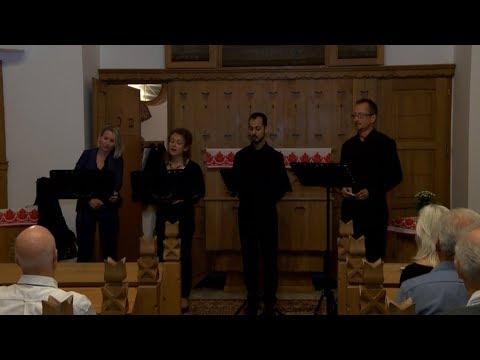 A Quartetto Vocale együttes koncertje Hévízen