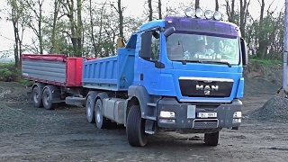 Man TGS with trailer - fast unload