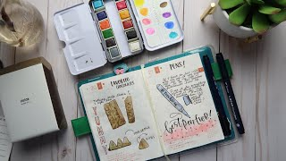A Hobonichi Process. Watercolor And Doodles
