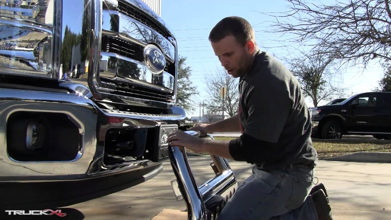 Stainless steel bull bar installation on 2011 ford f 250 youtube