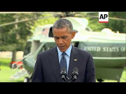 President Obama announces new US sanctions on Russia