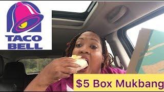 TACO BELL $5 BOX MUKBANG[EATING SHOW}#Tacobell #queenoftrades