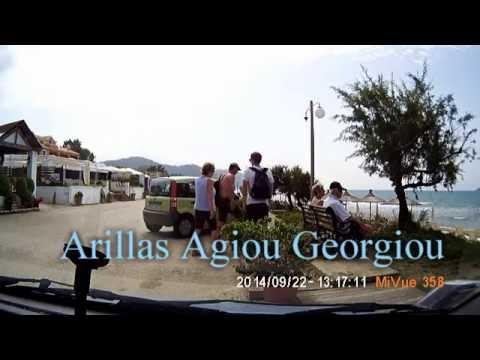 Arillas Agiou Georgiou - Agios Georgios - Angelocastro (Corfu, Greece) запи�� до�оги по ма������ (видео�еги���а�о�)