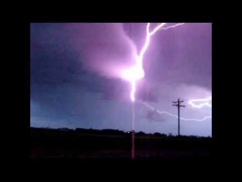 Radio tower hit with lightning