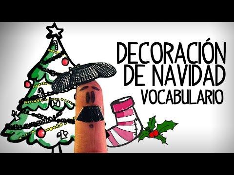 Decoración De Navidad, Vocabulario Español