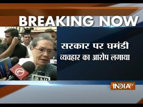 Sonia Gandhi Hits Out at Modi Govt over Naga Peace Accord - India TV