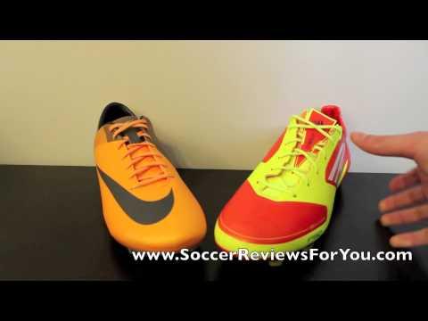 Nike Mercurial Vapor VII VS Adidas F50 adizero miCoach - Comparison