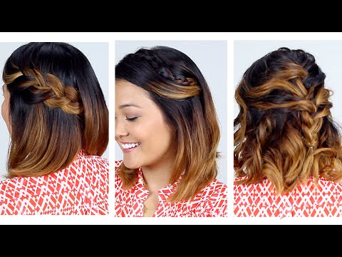3 Easy Short Hair Hairstyles!!