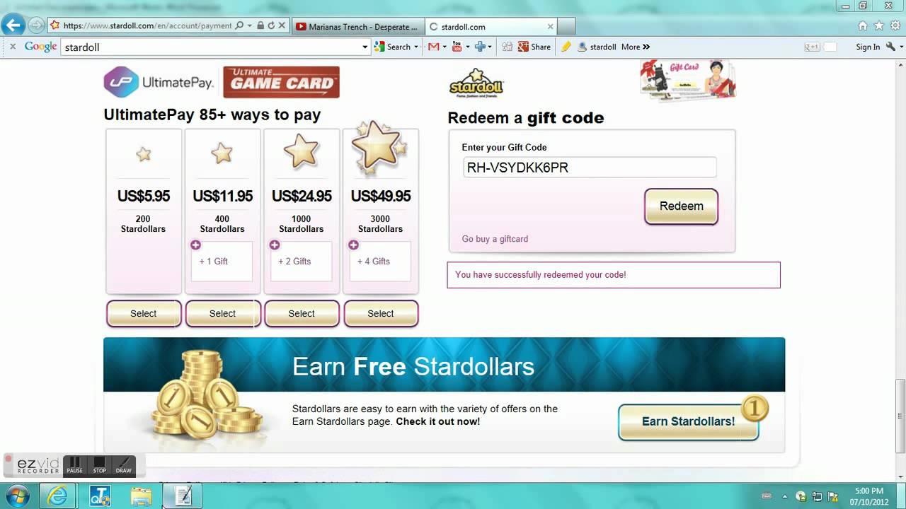 Stardoll Free Gift Codes