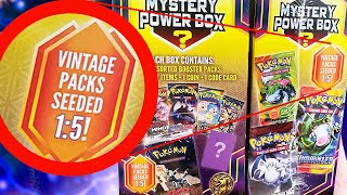 VINTAGE PACKS PULLED!? New Pokemon Mystery Power Box Opening