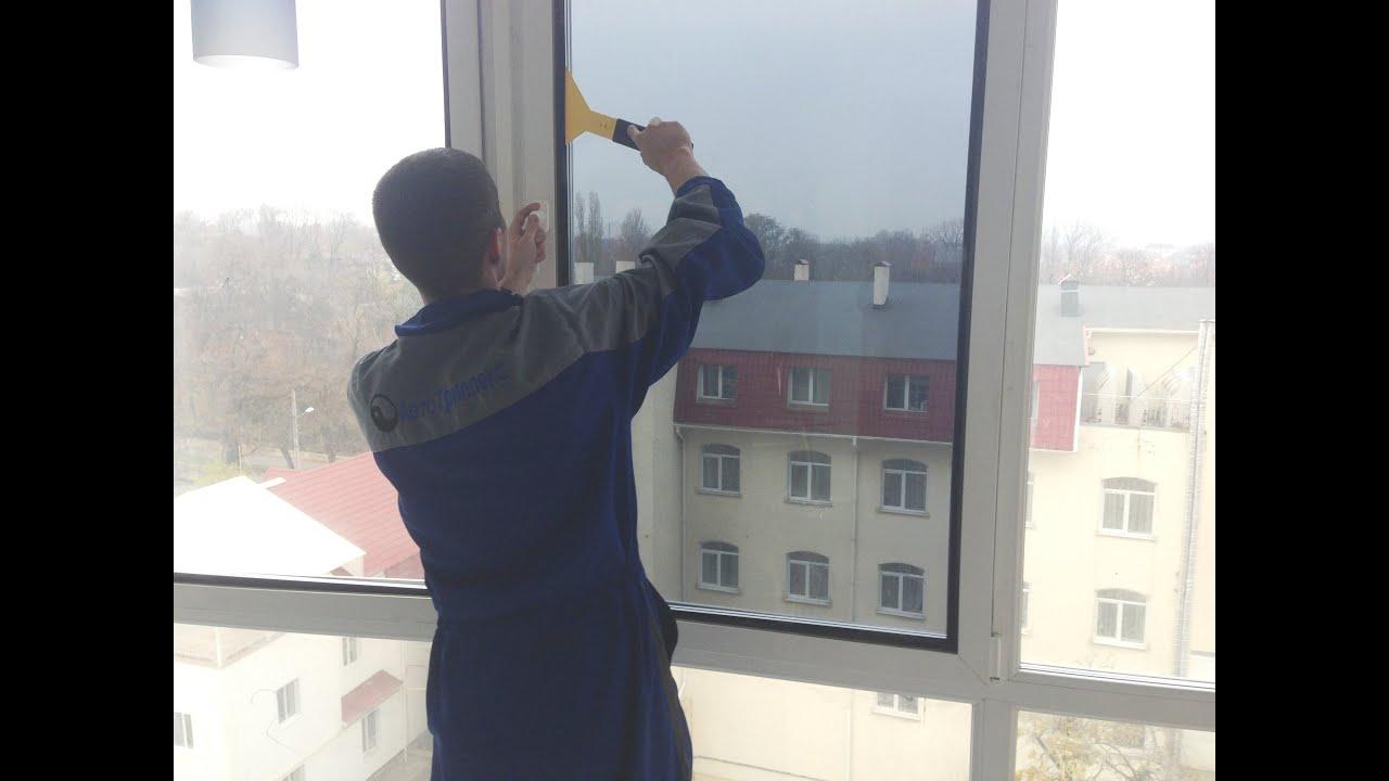 Тонировка стекол балкона своими руками 84